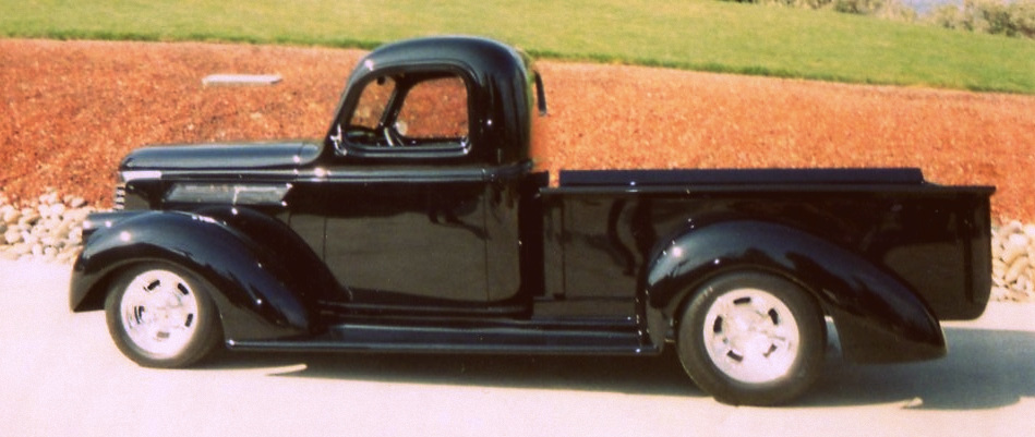 Restored Black 1940 Chevy Pickup